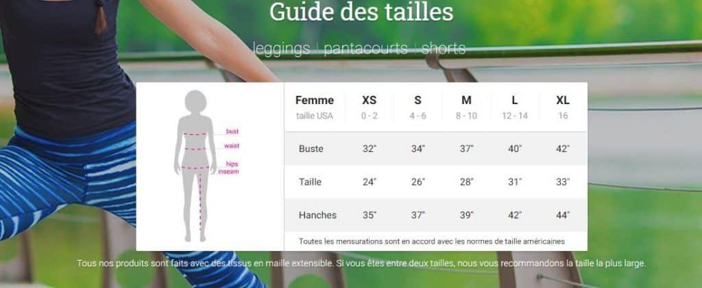 guides des tailles-leggings-capris-
